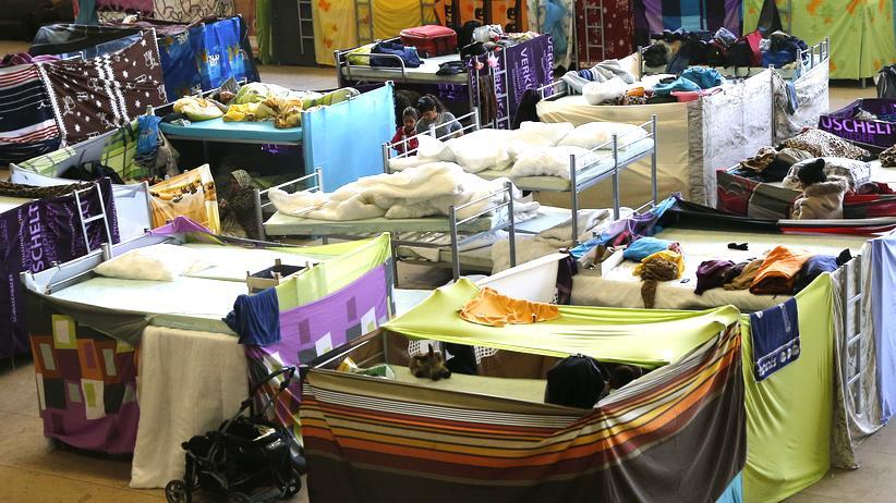 Flüchtlingskrise: Ein Flüchtlingsheim in Berlin Hohenschönhausen