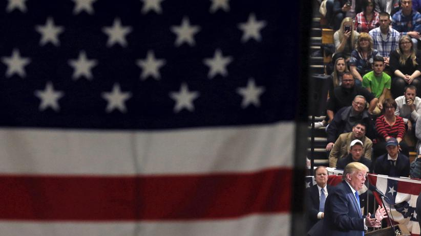 TTIP: Donald Trump auf einer Wahlkampfveranstaltung in Wisconsin, Anfang April