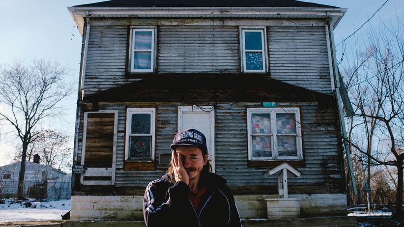Ein Mann aus der Stadt Flint im US-Staat Michigan, wo im vergangenen Jahr 40,1 Prozent der Bürger unter der Armutsgrenze lebten.