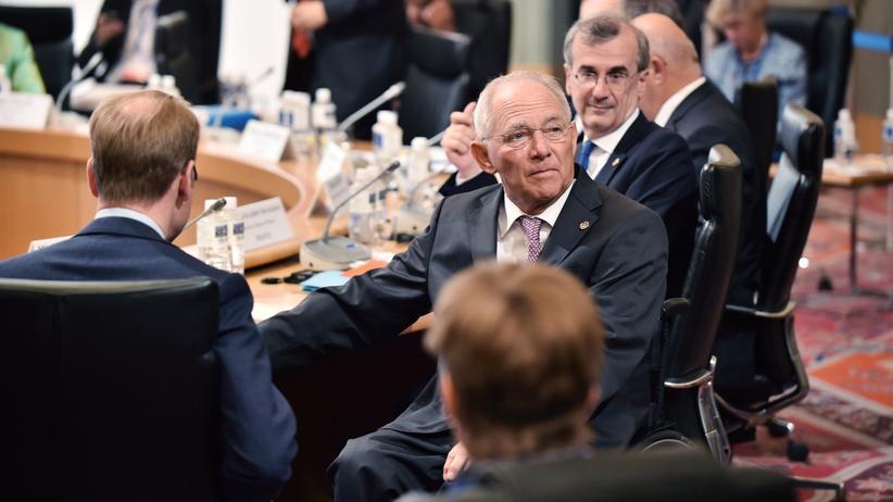 G-7-Treffen: Finanzminister Wolfgang Schäuble auf dem G-7-Treffen der Finanzminister