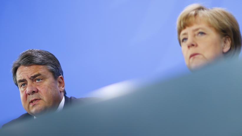 Kanzlerin Angela Merkel und Wirtschaftsminister Sigmar Gabriel während eines Pressetermins Anfang Mai.