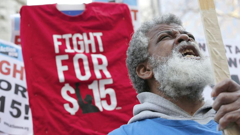 Ungleichheit: Proteste in den USA für einen höheren Mindestlohn