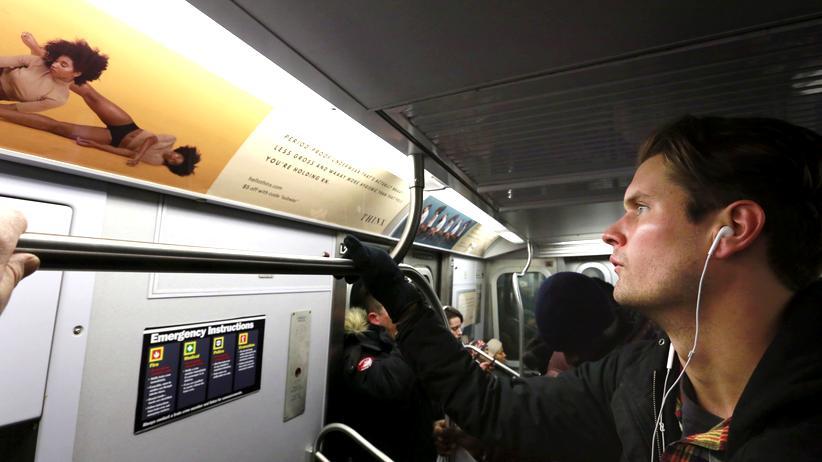 Menstruation: Werbung von Thinx in einer New Yorker U-Bahn