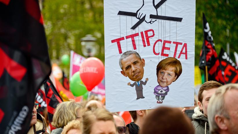Freihandel: Anti-TTIP-Proteste in Hannover