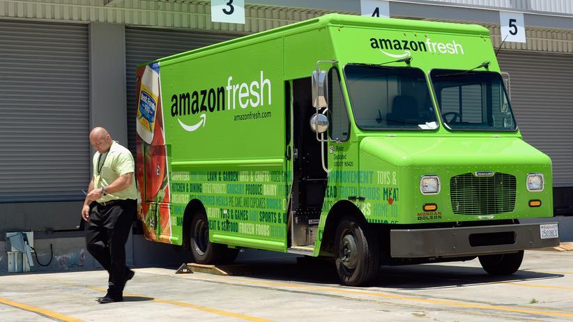 Amazon-Fresh: Ein Lieferwagen von Amazon-Fresh in Kalifornien