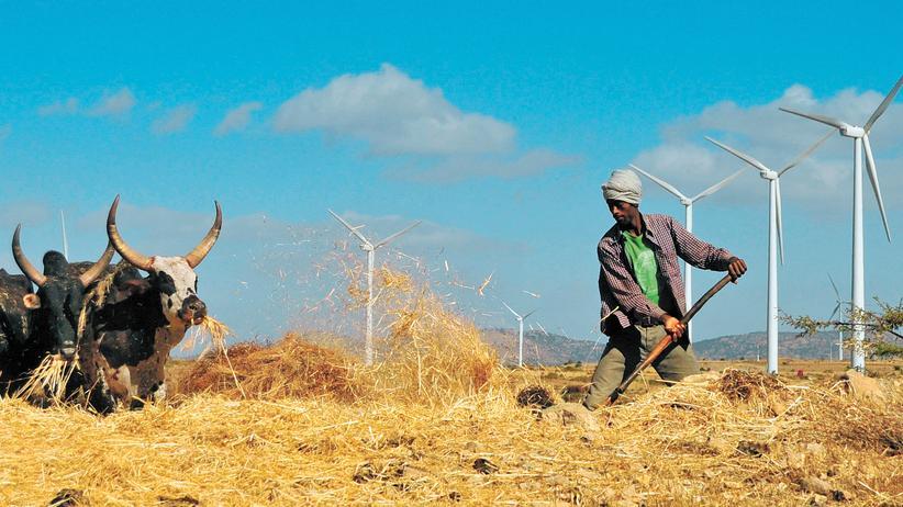 In der Nähe einer Windkraftanlage im Norden Äthiopiens
