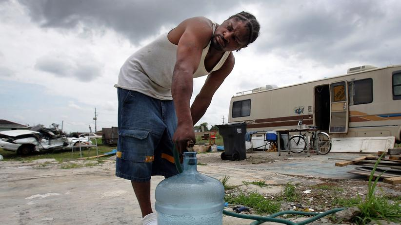 US-Wirtschaft: In den USA leben viele Menschen in Armut – so wie dieser Mann aus New Orleans.