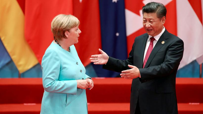 G20: Bundeskanzlerin Angela Merkel und der chinesische Präsident Xi Jinping auf dem G20-Gipfel in China © Reuters ()