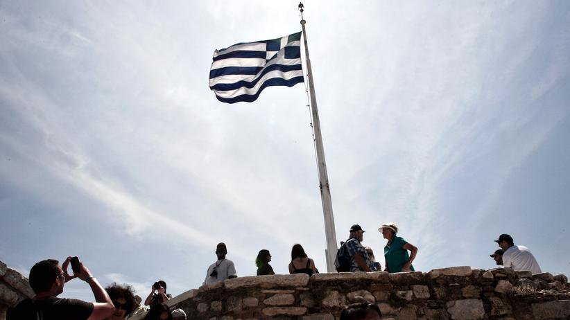 Griechenland: Touristen an der Akropolis