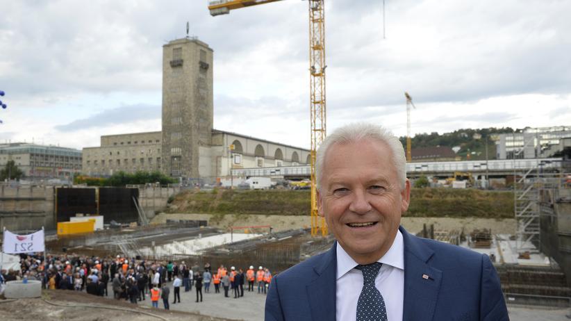 Grundsteinlegung: Bahnchef nennt Stuttgart 21 ein großes Geschenk
