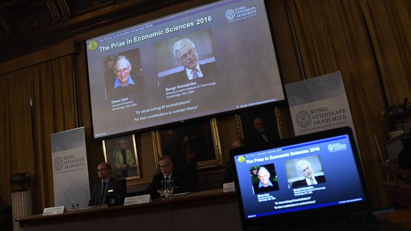 Oliver Hart und Bengt Holmström: Die Verkündung des Wirtschaftsnobelpreises: Oliver Hart und Bengt Holmstrom wurde für ihre Vertragstheorie ausgezeichnet.