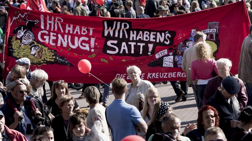 Selbstwahrnehmung: Proteste gegen die wachsende Kluft zwischen arm und reich gibt es immer wieder.
