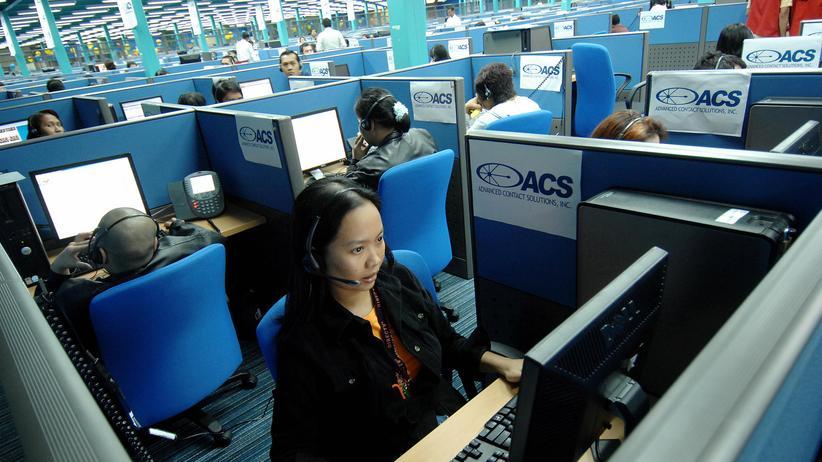 Philippinen: Ein Callcenter in Quezon-Stadt auf den Philippinen