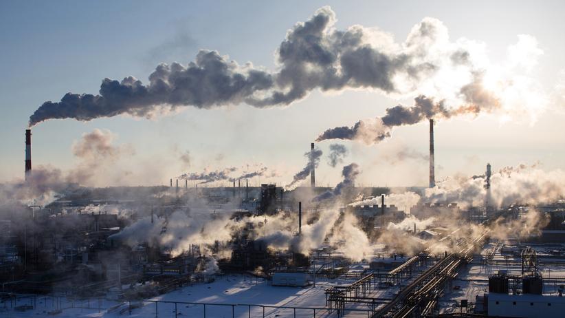 Russland: Die Ölraffinerie von Nowokuibyschewsk