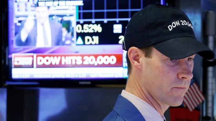US-Börse: Ein Aktienhändler am New York Stock Exchange (NYSE)