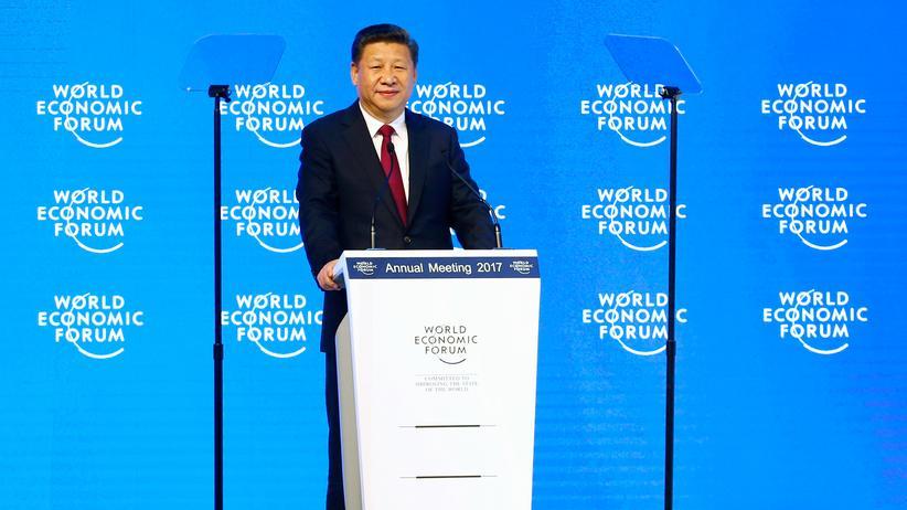 Xi Jinping: Chinas Präsident Xi Jinping hat sich in Davos für Freihandel ausgesprochen.