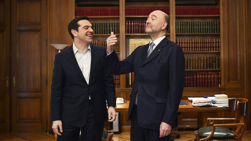Griechenland: Tsipras mit EU-Wirtschaftskommissar Pierre Moscovici in Athen