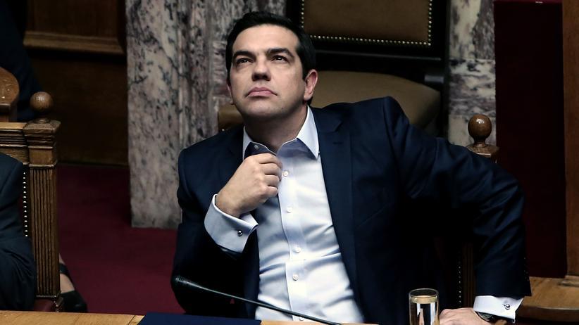 Griechenland: Der griechische Ministerpräsident Tsipras Ende 2016 im Parlament in Athen
