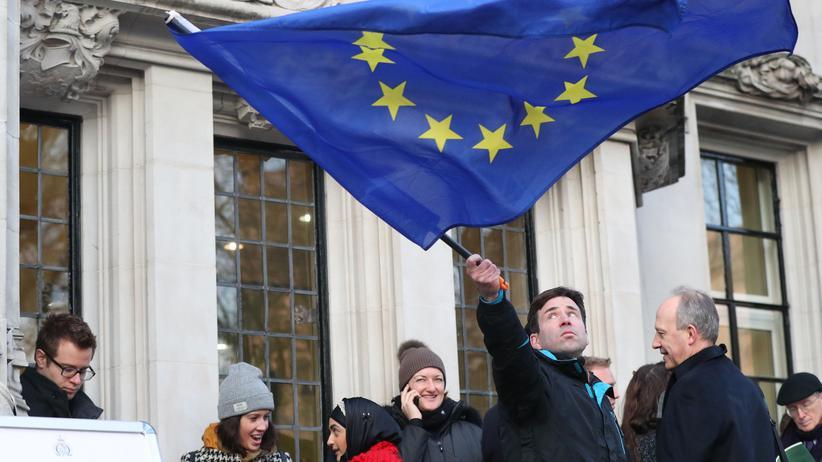 Brexit: Am 24. Januar 2017 vor dem Supreme Court in London: Wenig später entschieden die Richter, dass das Parlament dem Brexit zustimmen müsse.
