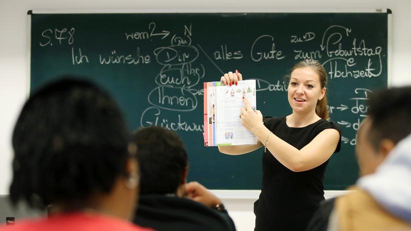 Flüchtlinge: Erste Hürde zum Arbeitsmarkt: Deutschkurs in Potsdam
