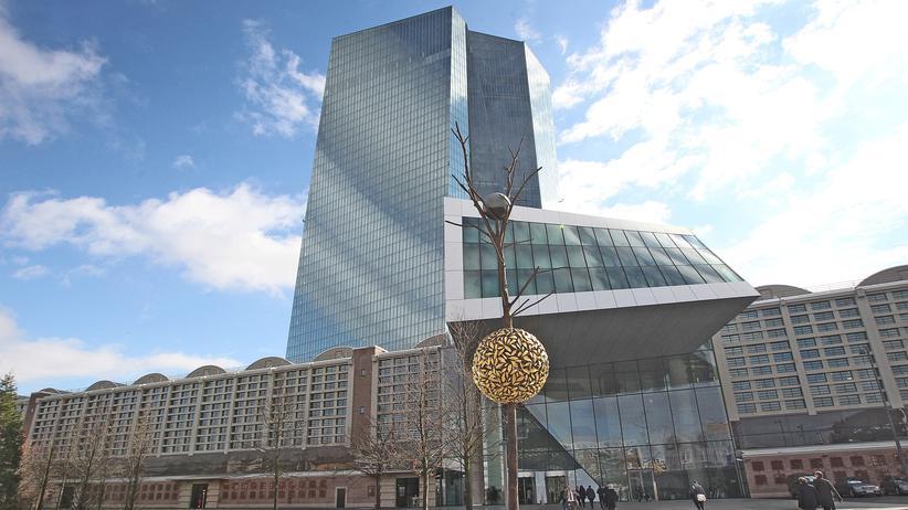 Finanzpolitik: Die Europäische Zentralbank in Frankfurt.