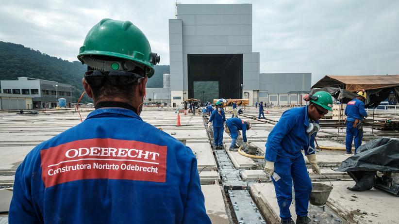 Odebrecht: Arbeiter auf einer Baustelle des Odebrecht-Konzerns im brasilianischen Itaguaí