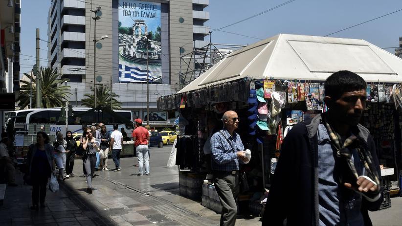Griechenland: Der zentrale Omonia-Platz in der griechischen Hauptstadt Athen