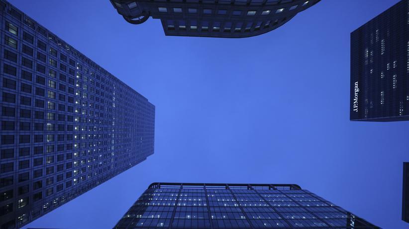 Cum-Ex-Geschäfte: Die Büros internationaler Finanzkonzerne in London. In diesem Distrikt arbeitete jenes Dutzend Investmentbanker, das den deutschen Staat um Millliarden an Steuern brachte.