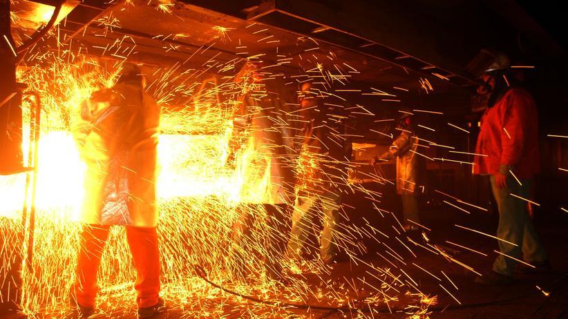 Freihandel: Produktion in einem kalifornischen Stahlwerk