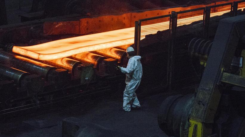 Wirtschaftswachstum: Stahlproduktion bei der Salzgitter AG