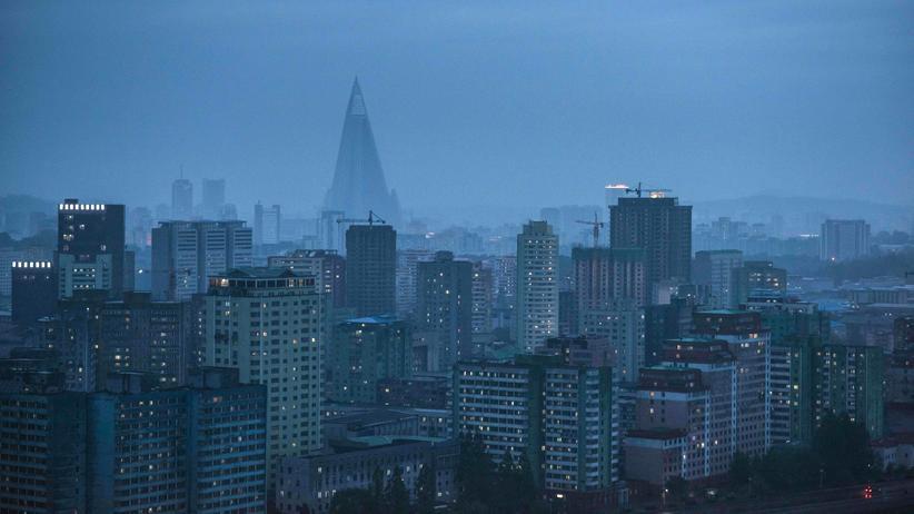 Sanktionen: Die Skyline der nordkoreanischen Hauptstadt Pjöngjang