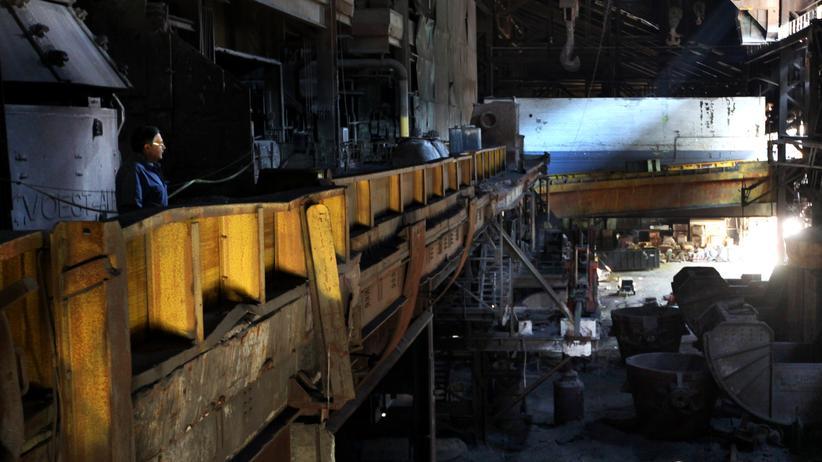 Stillgelegtes Stahlwerk in den USA.