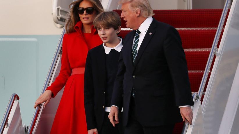 US-Präsident Donald Trump landet mit seiner Familie in Florida.
