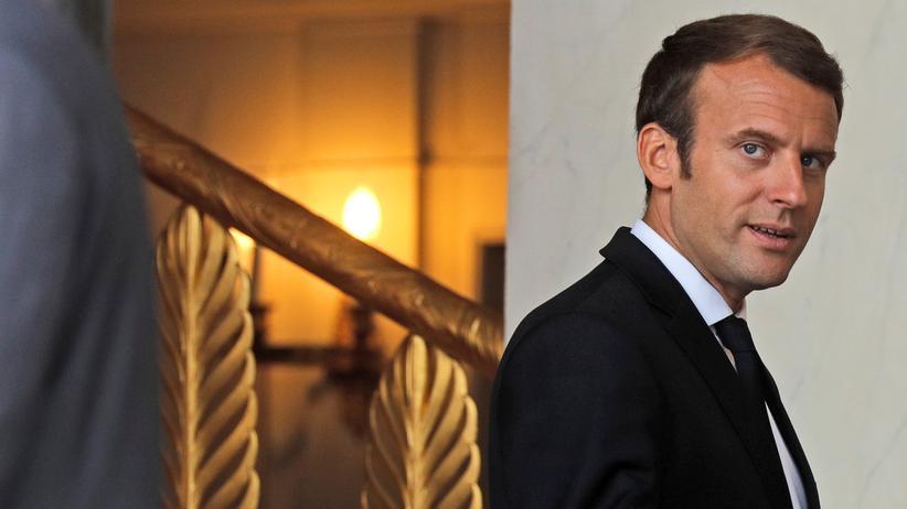 Frankreich: Zurück aus dem Urlaub: Frankreichs Präsident Emmanuel Macron am Donnerstag im Elysee-Palast