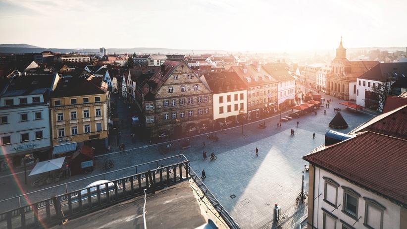 Einkommensverteilung: Blick über den Marktplatz von Bayreuth