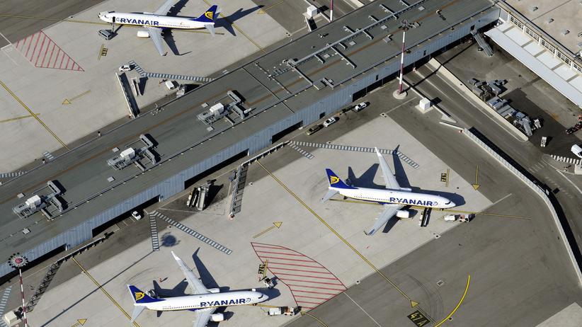 Flugausfälle: Ryanair-Flugzeuge auf dem Flughafen Marseille-Provence in Marignane