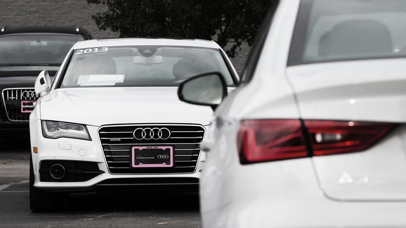 Kartellverdacht: Gebrauchte Audi-Fahrzeuge in einem Autohaus in Illinois, USA