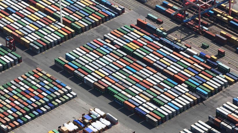 Brigitte Zypries: Container im Hamburger Hafen