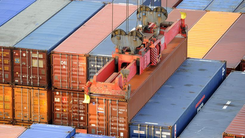 Konjunktur: Container im Hafen von Hamburg: Für das starke Wirtschaftswachstum ist vor allem der Außenhandel verantwortlich.