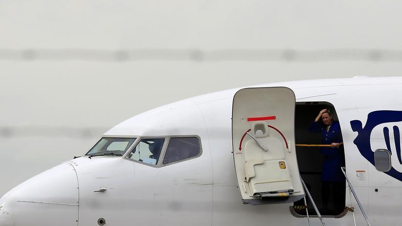Vereinigung Cockpit: Eine Ryanair-Maschine am Flughafen Sevilla