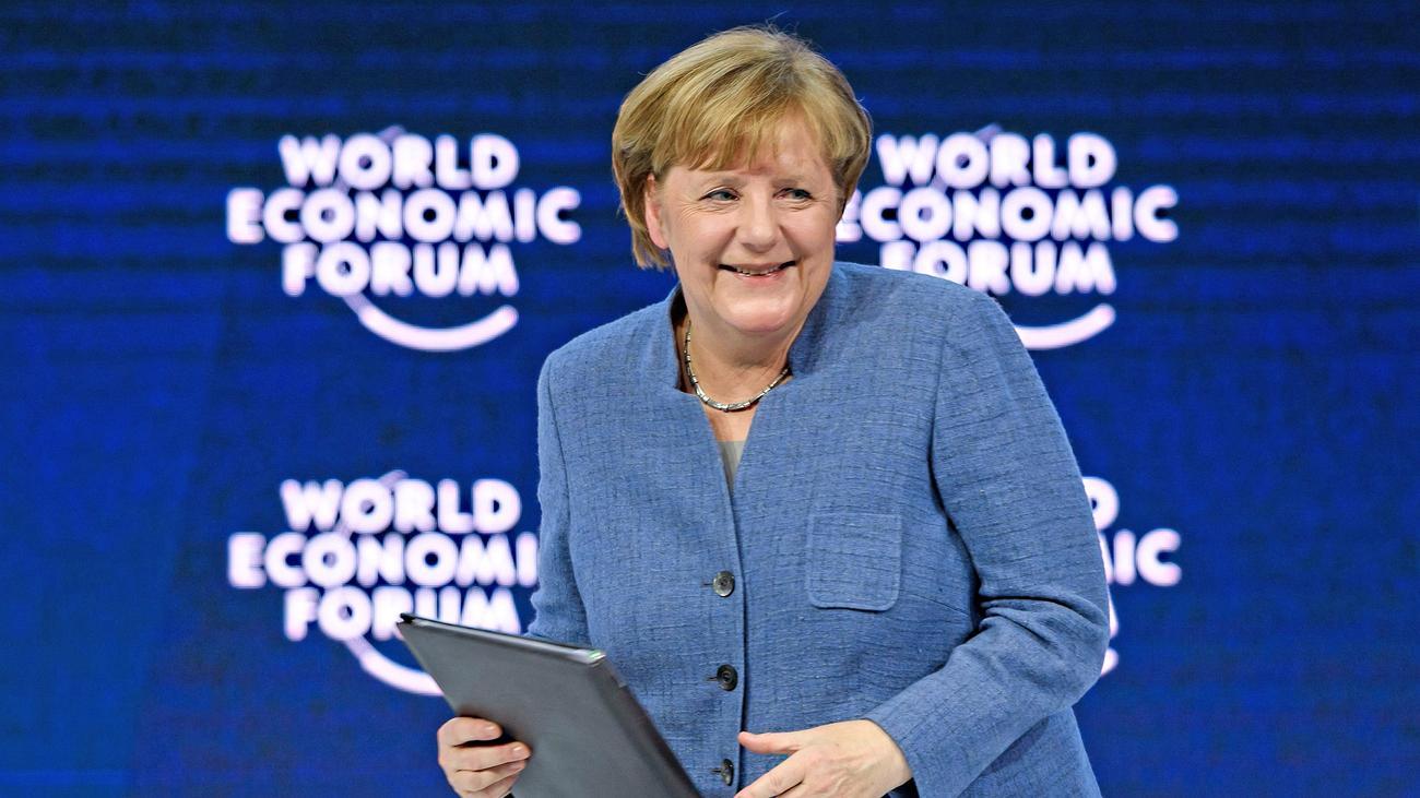 Davos: Merkel warnt vor Protektionismus