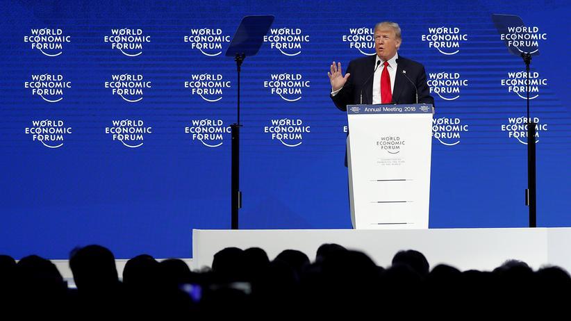 """Donald Trump in Davos: """"Amerika zuerst bedeutet nicht Amerika allein"""""""