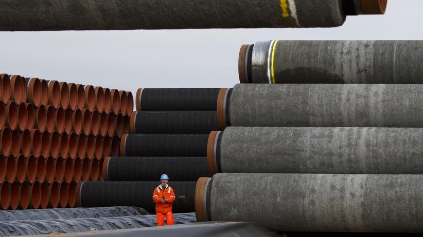 Nord Stream 2: Nord-Stream-2-Pipelinerohre in Sassnitz