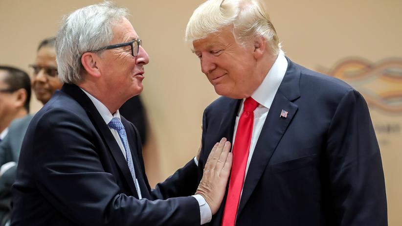 EU-Kommissionschef Jean-Claude Juncker und US-Präsident Donald Trump.