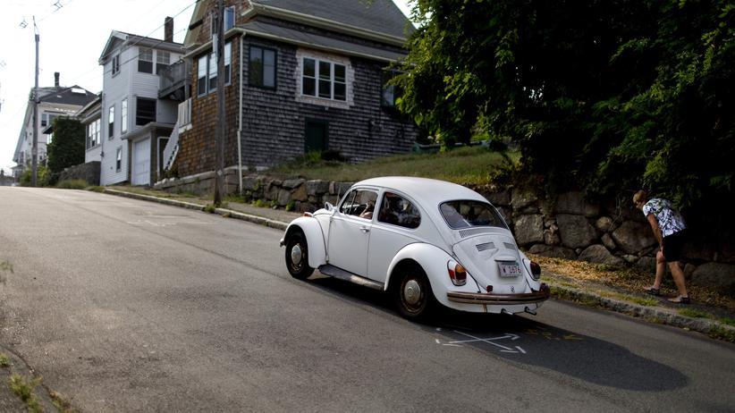Importzölle auf Autos: Ein VW-Käfer unterwegs in Gloucester, Massachusetts