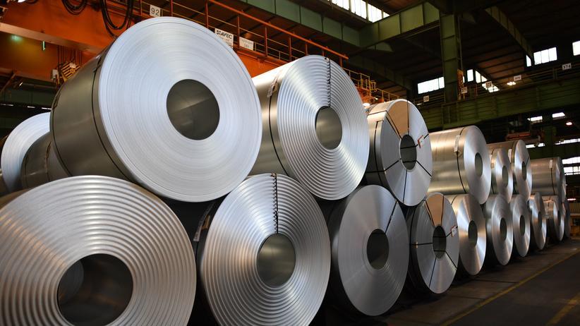 Importzölle: Stahlrollen produziert von der Salzgitter AG