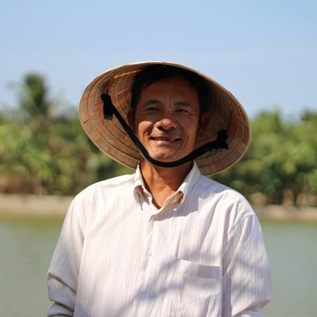 Vietnam: Früher baute er Reis an, jetzt züchtet er Garnelen: Mười Tiếng.