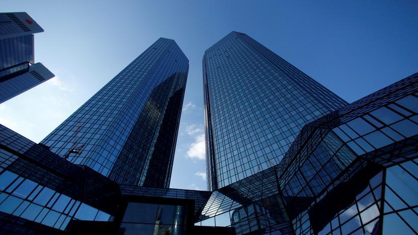 Federal Reserve: Die Konzernzentrale der Deutschen Bank in Frankfurt