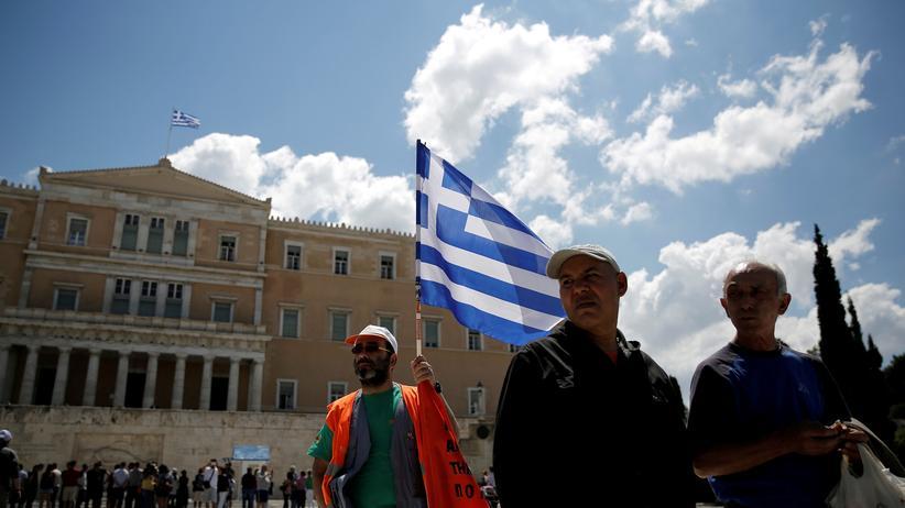 ESM-Rettungsschirm: Griechische Arbeitnehmer demonstrieren 2017 gegen die harten Sparmaßnahmen