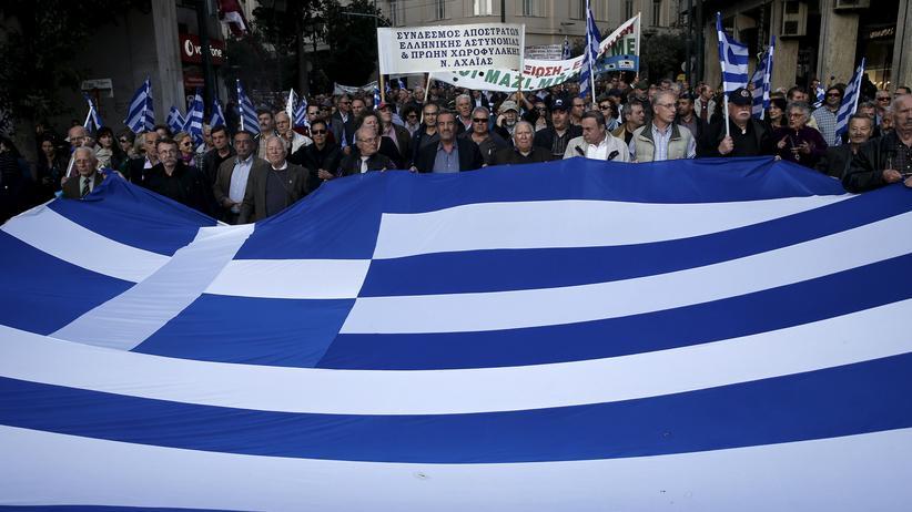 Schuldenkrise: Im Jahr 2015 versammelten sich aufgebrachte Bürger in Athen, um gegen den Sparkurs zu demonstrieren.